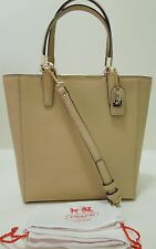 COACH Madison Saffiano Leather Mini Messenger Tote,Shoulder Bag,29001,Tan, $258