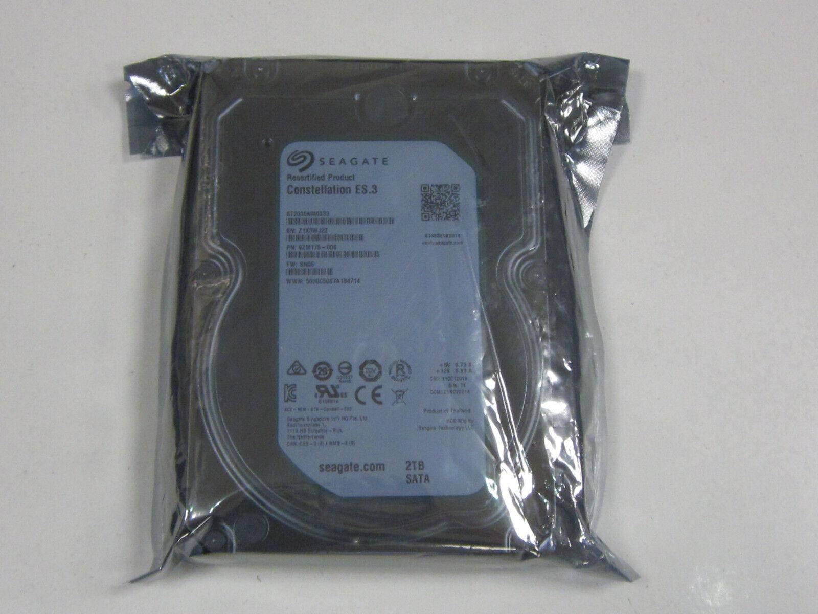 8,9 cm Seagate Constellation ES.3 ST2000NM0033 interne Festplatte 2TB 3,5 Zoll , 7200rpm, 128MB Cache, SATA
