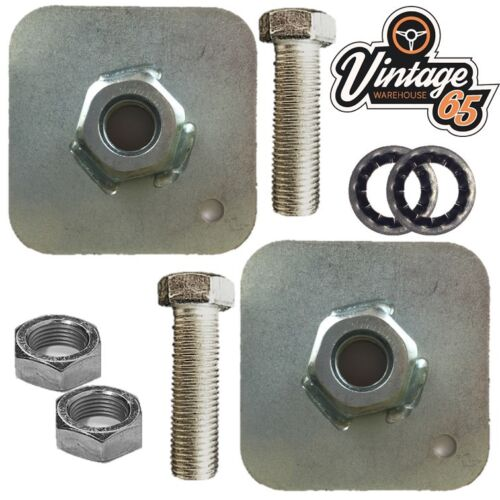 """Classic Sports Car Kit Seat Belt Mounting Plates 7//16/"""" Unf Fittings Nuts Bolts"""