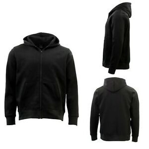GP-Unisex-Mens-Cotton-Zip-Up-Hoodie-Fleece-Hooded-Jacket-Blank-Plain-Jumper