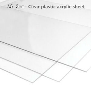 Details about Sale! Acrylic Clear Plastic Plexiglass Perspex Sheet Size  3mmx210mm x 148mm A5