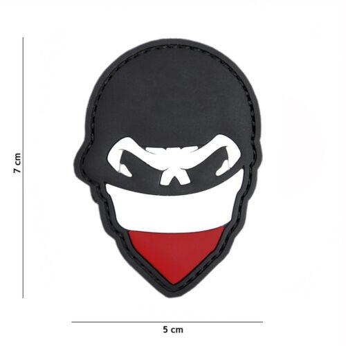 Polish skull balaclava rot #2084 Patch Klett Abzeichen Airsoft Paintball Softair