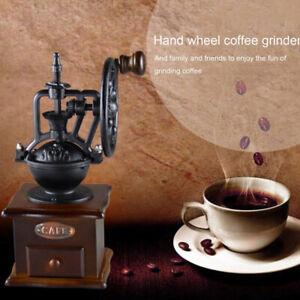 Manual-Coffee-Grinder-Vintage-Retro-Wood-Hand-Wheel-Mill-Bean-Nut-Grinding