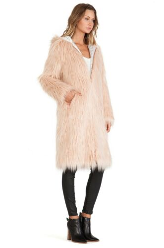 Solid Sz Faux Hooded Nwt Xs Chaser Coat Petal 237 Fur gIqTY