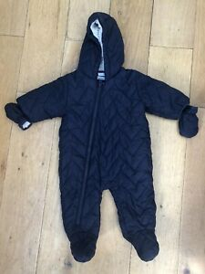 76c0ba540 NEXT Baby Boy Girl Age 3-6 mths Snowsuit Padded Pramsuit detachable ...