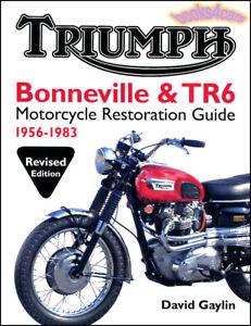 Triumph Bonneville Tr6 Restoration Guide Book Gaylin Reference Manual Ebay