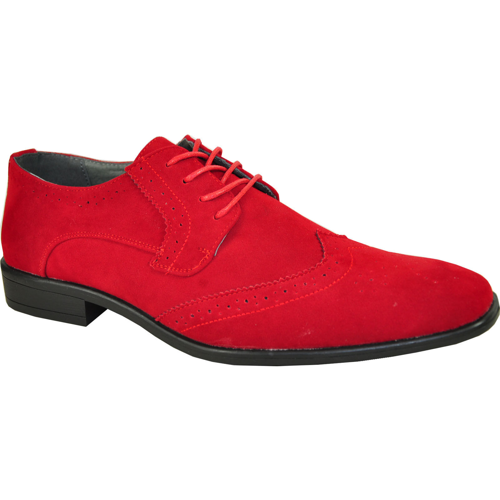 BRAVO KING-3 Dress schuhe Classic Faux rot Suede Oxford Leather Lining rot Faux 8fa52d