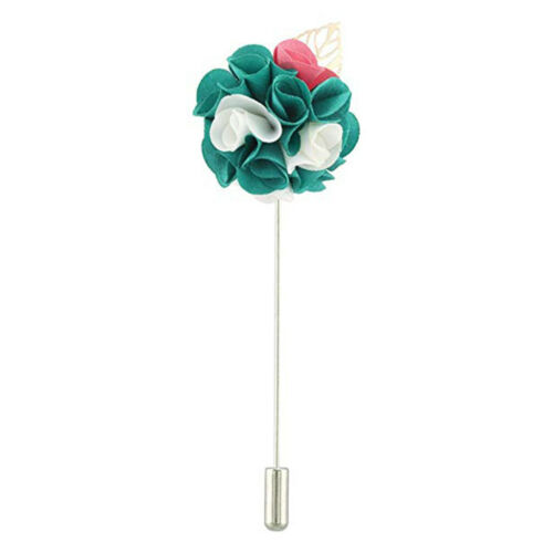10pcs Costume homme col PIN colle sur revers Stick PIN BASE Broche Leaf Charms