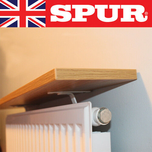 NEW Spur®️ UK Made Brackets and Fixings Radiator Shelf Kit includes MFC Shelf