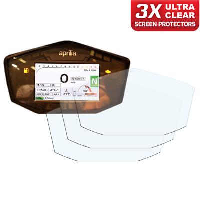 APRILIA TUONO 2017 1 X Ultra-Clair /& 1 x Anti-reflets tableau de bord protecteur d/'écran