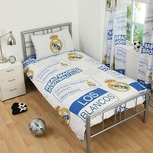 Real-Madrid-Cf-Empiecement-Housse-Couette-Simple-et-Taie-Set-Neuf-Chambre-Lit