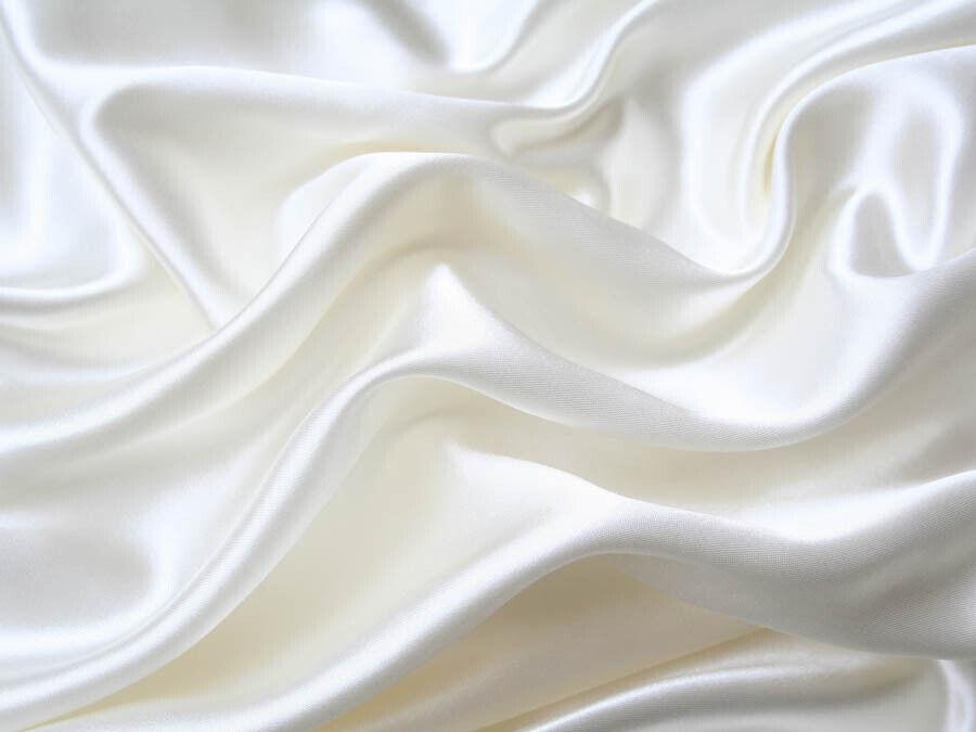 SALE  Soft silky Satin Lingerie Bed Sheets + Pillowcases Set Full White