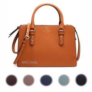 New-Kate-Spade-New-York-Lise-Mulberry-Street-Satchel-Crossbody-Pebble-Leather