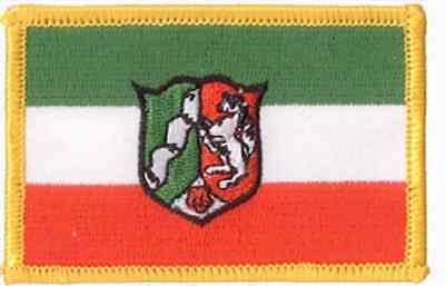 Aufnäher Nordrhein-Westfalen Fahne Flagge Aufbügler Patch 8 x 5 cm