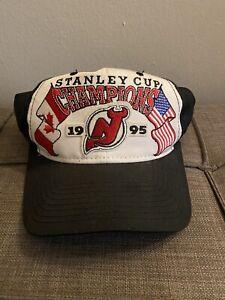 Vtg-1995-Starter-NHL-New-Jersey-Devils-Stanley-Cup-Champions-Snapback-Hat-Cap