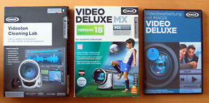 MAGIX Video Deluxe MX 18 + Videoton Cleaning Lab + Lern-Workshop DVD