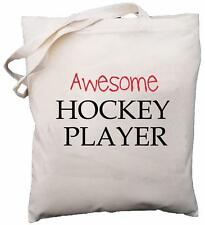 Impresionante Hockey Player-Bolsa de Hombro Algodón Natural-Regalo
