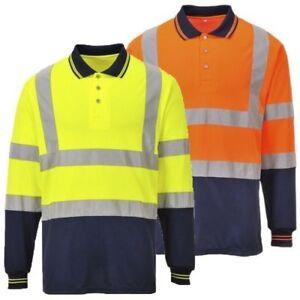 Hi-Viz-Vis-High-Visibility-Fleece-Sweatshirt-Pullover-Reflective-Tape-Top-Jacket