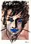 Bob-Dylan-Original-Painting-over-1913-Bourdelle-Drawing-Modern-Art-Neal-Turner thumbnail 1