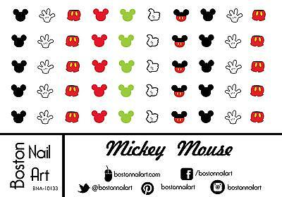 Mickey Mouse Waterslide Nail Decal - 50 PC - BNA-10133