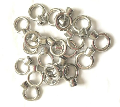 20pcs STAINLESS STEEL 8mm EYE NUT SHADE SAIL BOAT ROOF RACK BOLT NUT SS316 #1