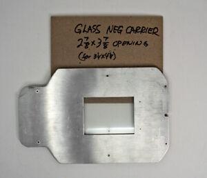 Omega-E-Enlarger-5x7-Glass-Carrier-For-3x4-Graflex-Negatives-RARE