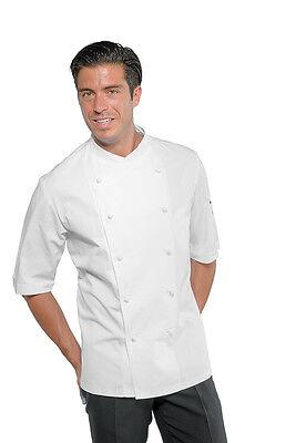 2019 Nuovo Stile Giacca Cuoco Chef Panama Slim Bianca Mezza Manica Isacco Made In Italy Jacket