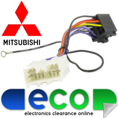 Mitsubishi Outlander 2002-2007 auto estéreo RADIO arnés de ISO plomo Telar T1 Audio