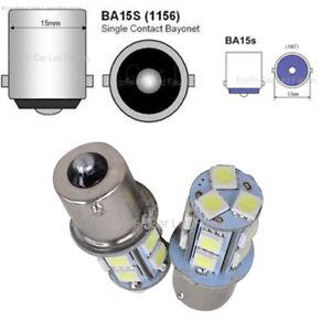 1156-BA15S-WHITE-Car-13-LED-White-Light-Bulb-For-Ford