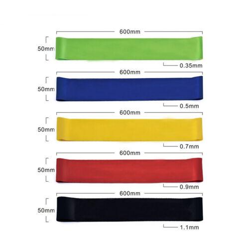 Fitness Bandes Sport Bracelet connecté widerstandsband élastique effort 5 Set