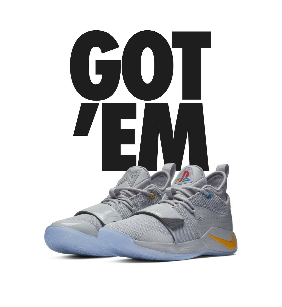 Nike PG 2.5 Playstation Sz 9.5 Wolf Grey Authentic Item Purchased At SNKRS App