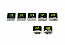 NVIDIA GeForce GT 635m sticker 7x pieza/PCs pegatina/Label | nuevo logotipo New