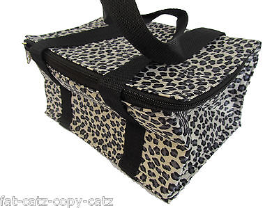 BLACK SPOTS POLKA DOTS INSULATED COOL WARM REUSABLE LUNCH BAG WATERPROOF UKSELL