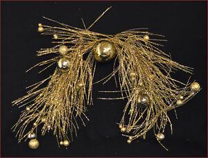 Por Encima De Puerta Navideño Cables Oro Glitterati 80CM Árbol Navidad Adornos
