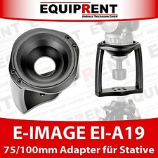 E-IMAGE EI-A19 75mm / 100mm Halbschale / Halbkugel Adapter für Stativ (EQ214)