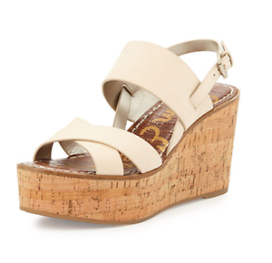 Sam Edelman Destiny Desnuda Sandalias De Mujer Zapatos M Nuevo