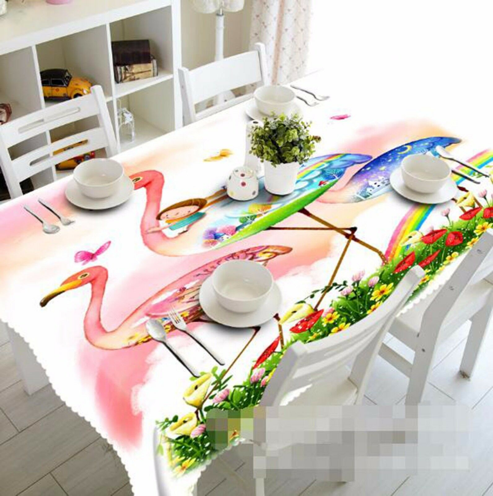 3D Cartoon 62 Tablecloth Table Cover Cloth Birthday Party AJ WALLPAPER UK Lemon