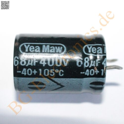 5pcs 5 x 68µf 68uf 400v 105 ° SnapIn rm10 Elko kondensato yea Maw Elko SnapIn