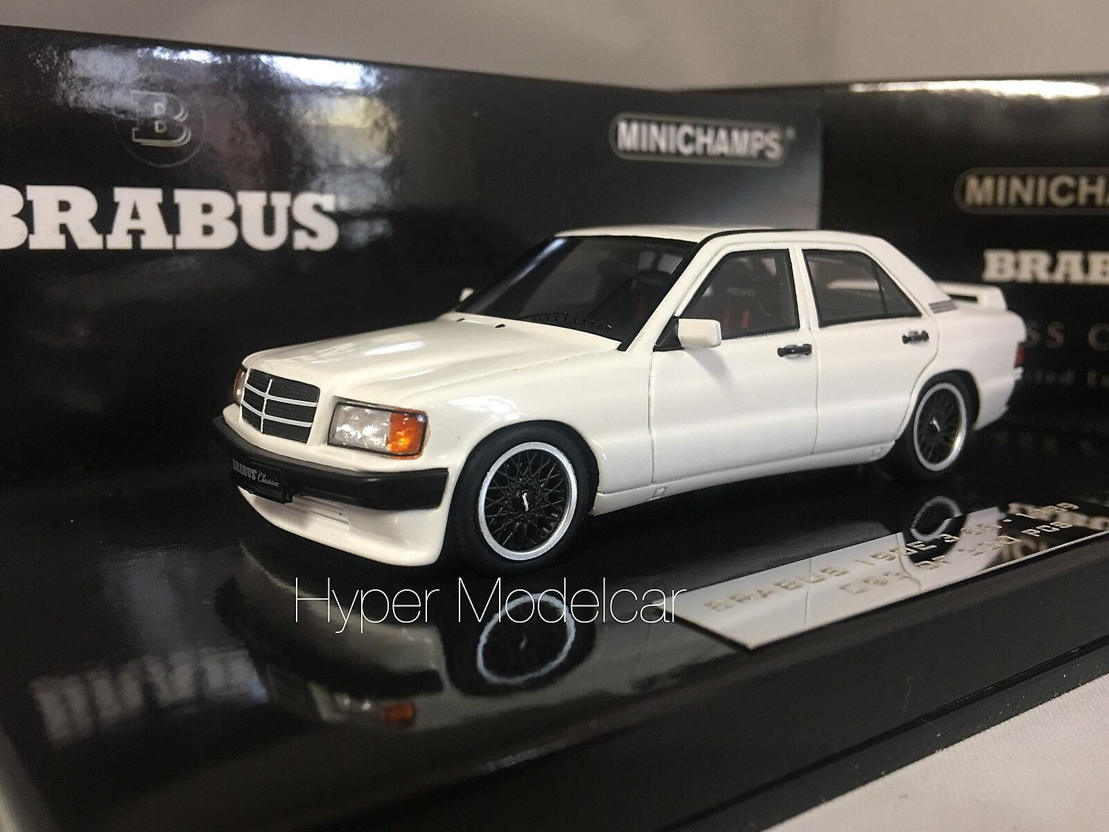 Minichamps 1  43 Mercedes -Benz 190E 3.6S Brabuss 1989 vit 437032602