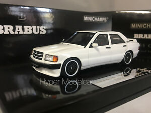 Minichamps 1/43 Mercedes-benz 190e 3.6s Brabus 1989 Blanc 437032602