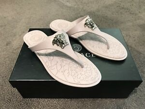 146a7c8b8953 Image is loading Versace-Medusa-Palazzo-Thong-Sandals