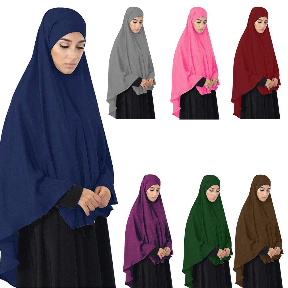 Muslim Women Long Khimar Hijab Jilbab Niqab Prayer Abaya Overhead Burqa Clothes