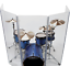 thumbnail 5 - Drum Shield Drum Screen DS65L with Living Hinges Acrylic Drum Panels