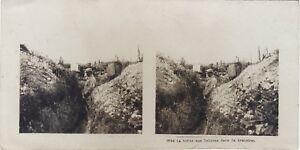 Big-Large-Guerre-La-Box-Aux-Lettres-WW1-Photo-Stereo-Vintage-Analogue