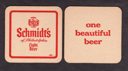 "20 SAME Schmidt/'s Light /""One Beautiful Beer/"" Coasters Philadelphia PA NOS//UNUSED"
