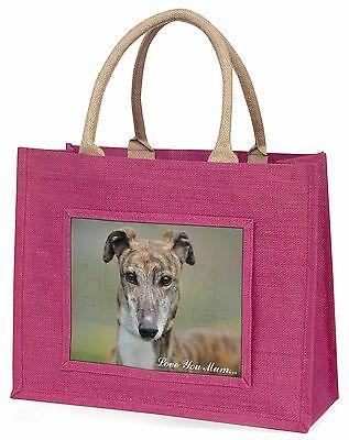 Windhund-hund 'Liebe, die Sie Mama' Große Rosa Einkaufstasche Weihnachten Vor,