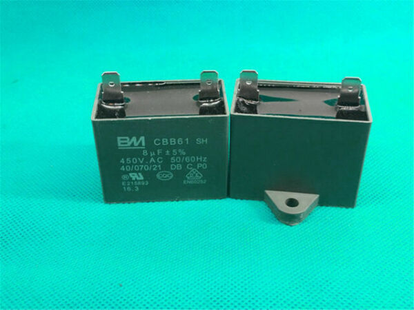 Cbb61 Capacitor Pins Ceiling Fan Capacitor 450v 8uf For