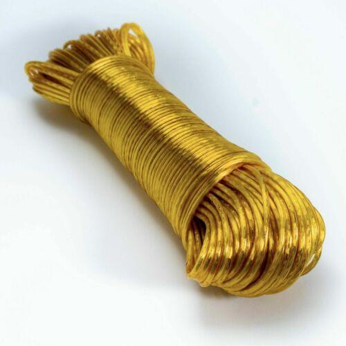 hohe Reißfestigkeit Ø 2,8mm Wäscheleine gelb mit Stahldrahteinlage 50m
