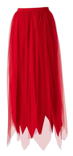 Femme Sinful jupe rouge accessoires costume