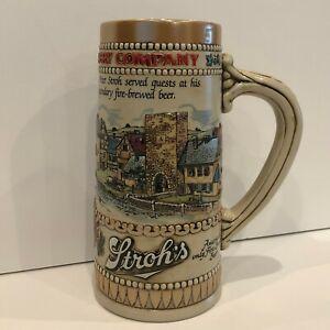 Vtg-Strohs-Heritage-Series-II-Beer-Stein-Beer-Mug-Ceramarte-Brazil-Fire-Brewed
